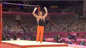 Gymnast sticking image